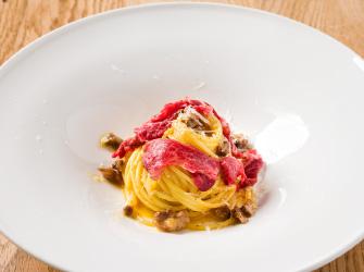 Wagyu spaghetti carbonara