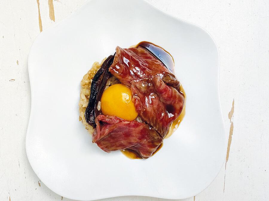 Wagyu roast beef, served with seasonal mushroom risotto, and port sauce